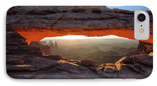 Mesa Arch At Sunrise IPhone Case by Mark Kiver