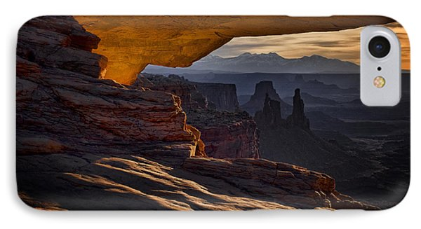 IPhone Case featuring the photograph Mesa Arch Glow by Jaki Miller