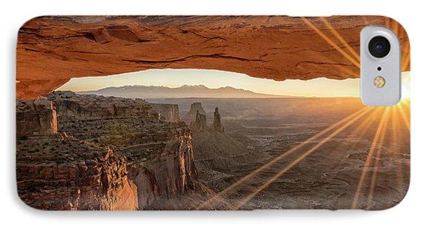 Mesa Arch Sunrise 4 - Canyonlands National Park - Moab Utah Phone Case by Brian Harig