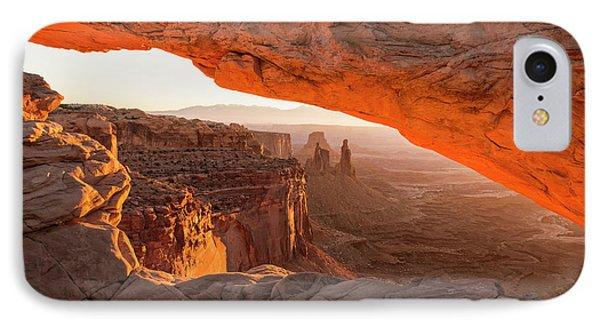 Mesa Arch Sunrise 5 - Canyonlands National Park - Moab Utah IPhone Case by Brian Harig