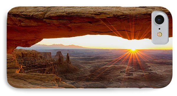 Mesa Arch Sunrise - Canyonlands National Park - Moab Utah IPhone Case by Brian Harig