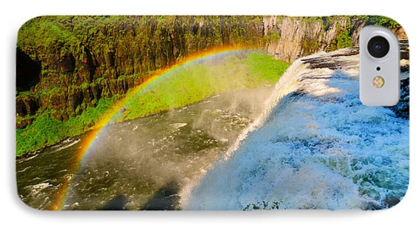 Mesa Falls Rainbow IPhone Case by Greg Norrell
