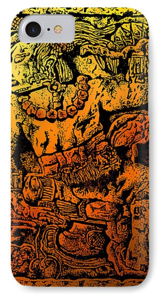 Mesoamerican  Mayan Figure Eight Century Mexico Phone Case by Larry Butterworth