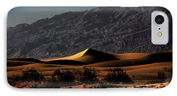 Mesquite Flat Sand Dunes Death Valley - Spectacularly Abstract Phone Case by Christine Till