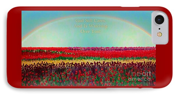 Message From The Other Side With A Bit Of Christmas Color Cheer IPhone Case by Kimberlee Baxter
