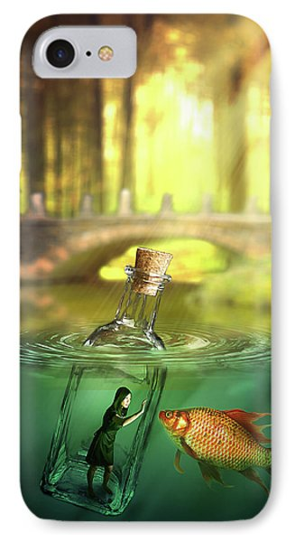 IPhone Case featuring the digital art Message In A Bottle by Nathan Wright
