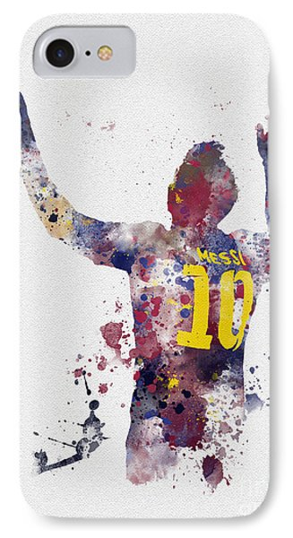 Barcelona iPhone 7 Case - Messi by Rebecca Jenkins