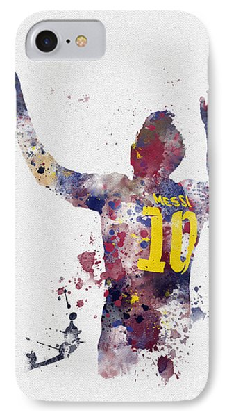 Messi IPhone Case by Rebecca Jenkins