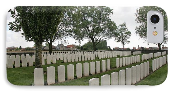 IPhone 7 Case featuring the photograph Messines Ridge British Cemetery by Travel Pics
