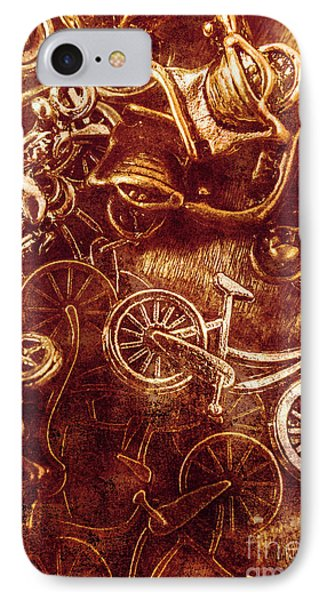 Messy Bike Workshop IPhone Case