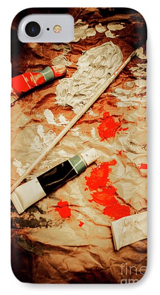 Messy Painters Palette IPhone Case by Jorgo Photography - Wall Art Gallery