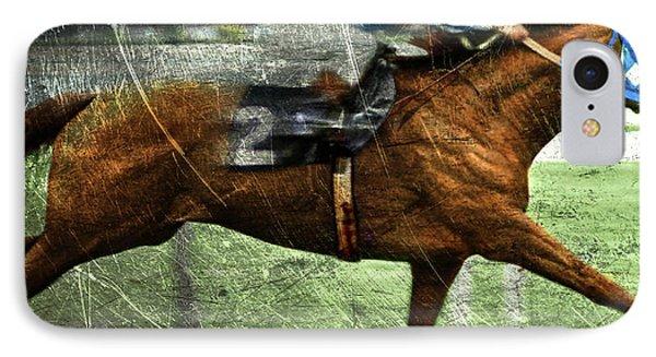 Metal Etching, Secretariat, Belmont Stakes IPhone Case by Thomas Pollart