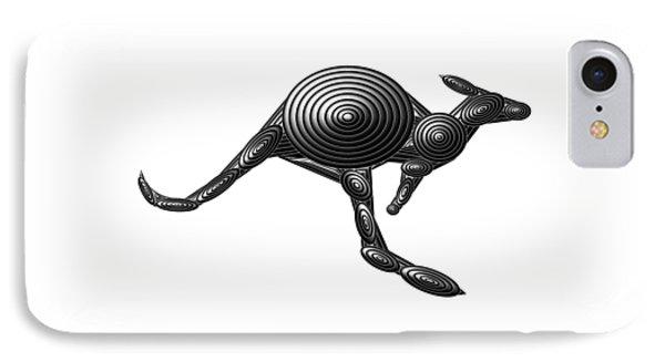 Metal Kangaroo IPhone Case by Chris Butler