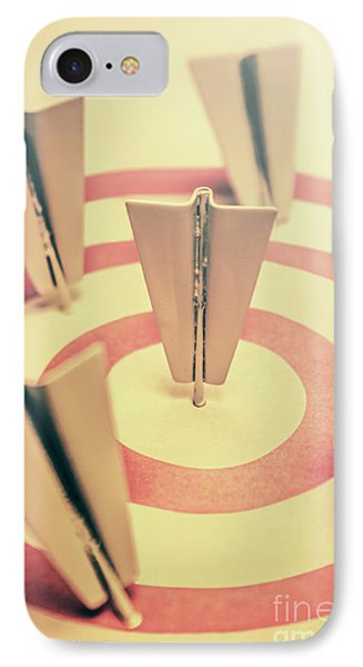 Metal Paper Planes In Target, Business Aims IPhone Case
