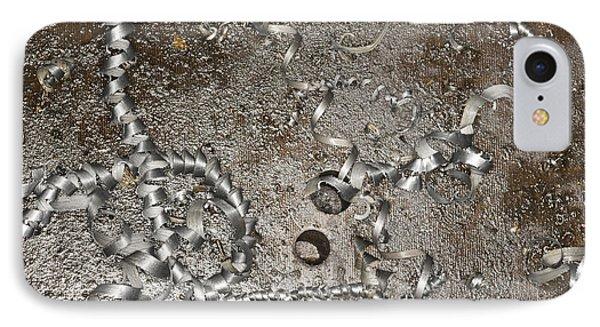 Metal Shavings On Floor Phone Case by Shannon Fagan