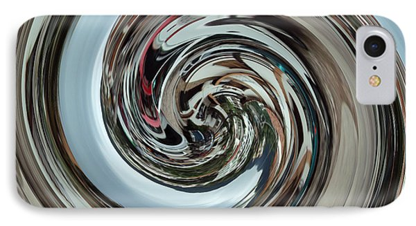 IPhone Case featuring the digital art Metalic Swirl by Kathy Kelly