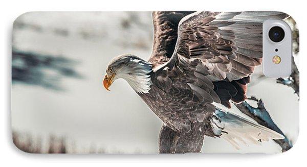 Metallic Bald Eagle  IPhone Case