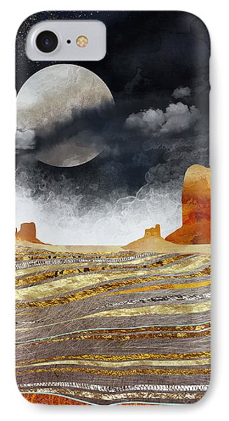 Landscapes iPhone 7 Case - Metallic Desert by Spacefrog Designs