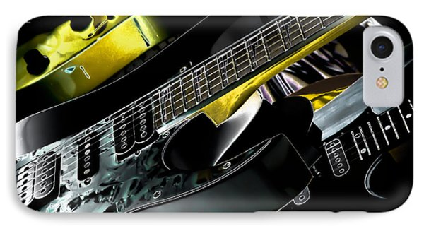 Metallic Guitars IPhone Case by David Patterson