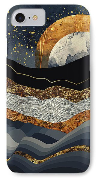 Landscapes iPhone 7 Case - Metallic Mountains by Katherine Smit