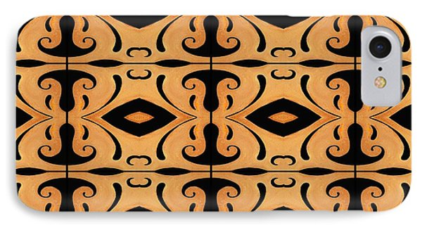 Metamorphosis Of The White Waves Symmetry Tile 3 By 4 IPhone Case