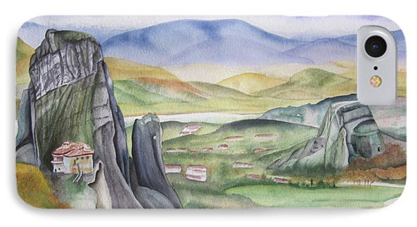 IPhone Case featuring the painting Meteora by Teresa Beyer