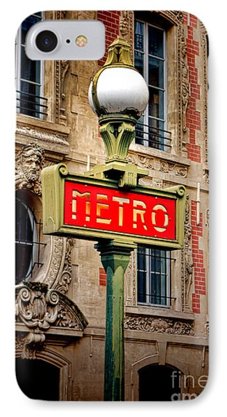 Metro IPhone Case by Olivier Le Queinec