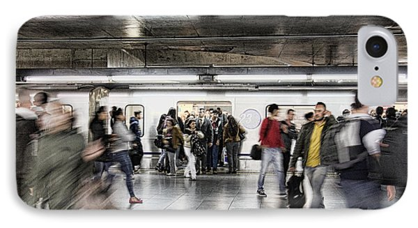 IPhone Case featuring the photograph Metro Rush by Kim Wilson