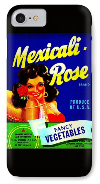 Mexicali Rose Vintage Vegetable Crate Label IPhone Case by Peter Gumaer Ogden