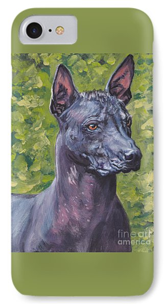 IPhone Case featuring the painting Mexican Hairless Dog Standard Xolo by Lee Ann Shepard
