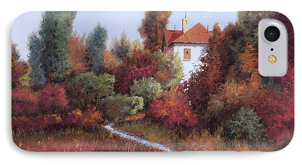 Mezza Bicicletta Nel Bosco IPhone Case by Guido Borelli