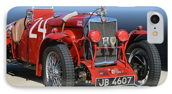 IPhone Case featuring the photograph Mg Ne Racing Magnette  by Bill Dutting