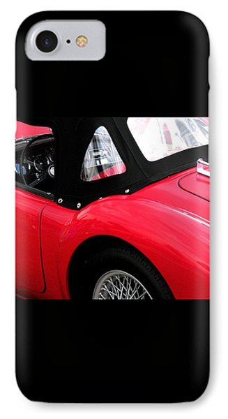 M G  Red Phone Case by Angela Davies