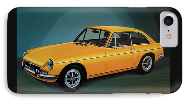 Mgb Gt 1966 Painting  IPhone Case by Paul Meijering