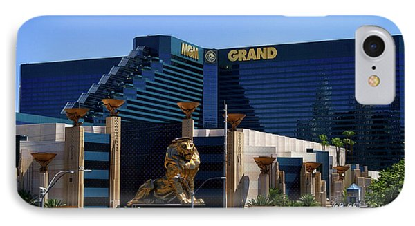 Mgm Grand Hotel Casino IPhone Case by Mariola Bitner