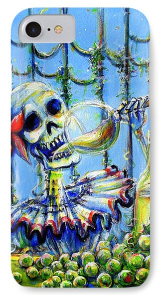 IPhone Case featuring the painting Mi Chardonnay by Heather Calderon