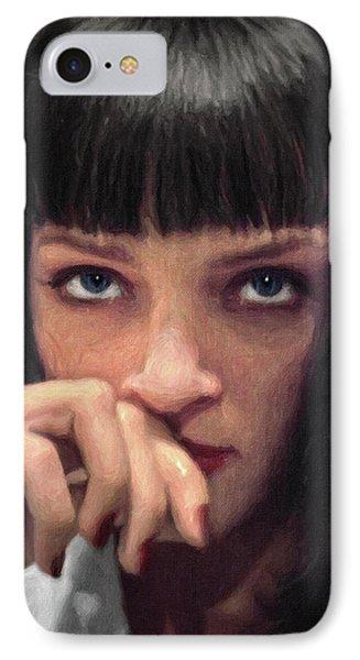 Mia Wallace - Pulp Fiction IPhone Case by Taylan Apukovska