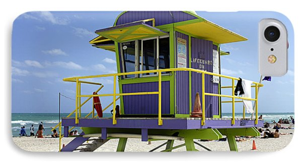 Miami Beach Phone Case by Bob Christopher