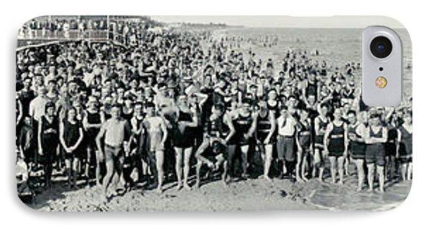 Miami Beach Sunbathers 1921 IPhone Case by Jon Neidert