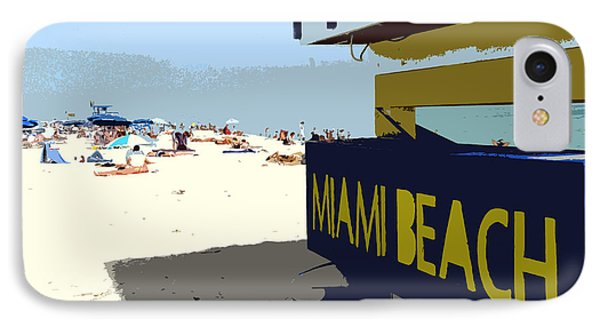 Miami Beach Work Number 1 Phone Case by David Lee Thompson
