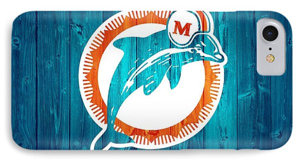 Miami Dolphins Barn Door IPhone Case by Dan Sproul