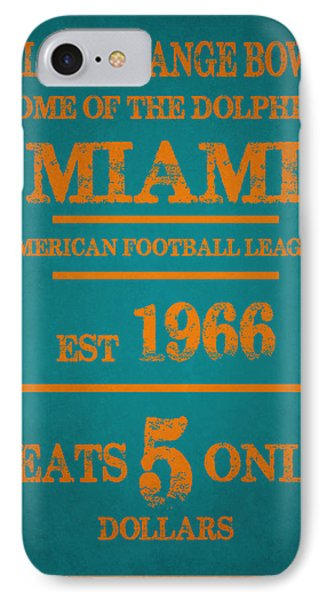 Miami Dolphins Sign IPhone 7 Case