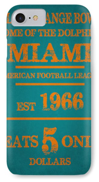Miami Dolphins Sign IPhone 7 Case by Joe Hamilton