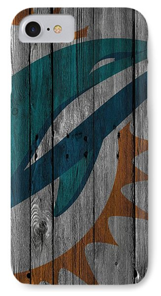 Miami Dolphins Wood Fence IPhone 7 Case