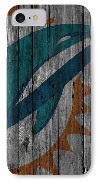 Miami Dolphins Wood Fence IPhone Case