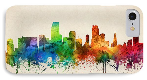 Miami Florida Skyline 05 IPhone 7 Case by Aged Pixel