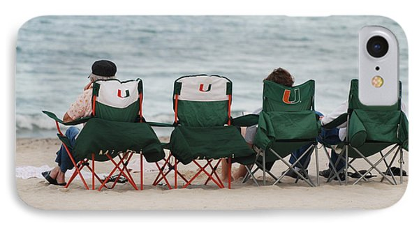 Miami Hurricane Fans IPhone Case by Rob Hans
