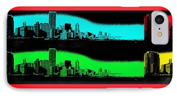 Miami Pop Art Panorama IPhone Case by Christiane Schulze Art And Photography
