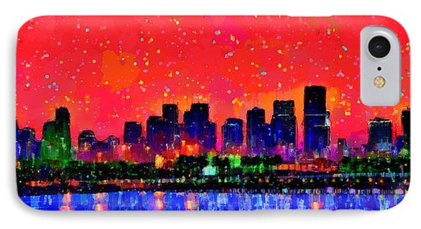 Miami Skyline 10 - Pa IPhone Case