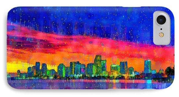 Miami Skyline 100 - Pa IPhone Case